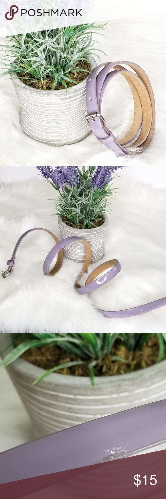 Ann Taylor Smoky Purple Patent Leather Skinny Belt Ann Taylor Smoky Purple Patent Leather Skinny Belt Women's L Large  Style: #181374 Length: 42