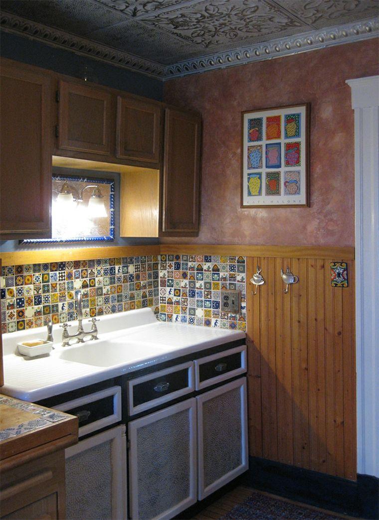 Cocina obra salpicadero azulejos interiores para cocina - Cocinas de obra ...