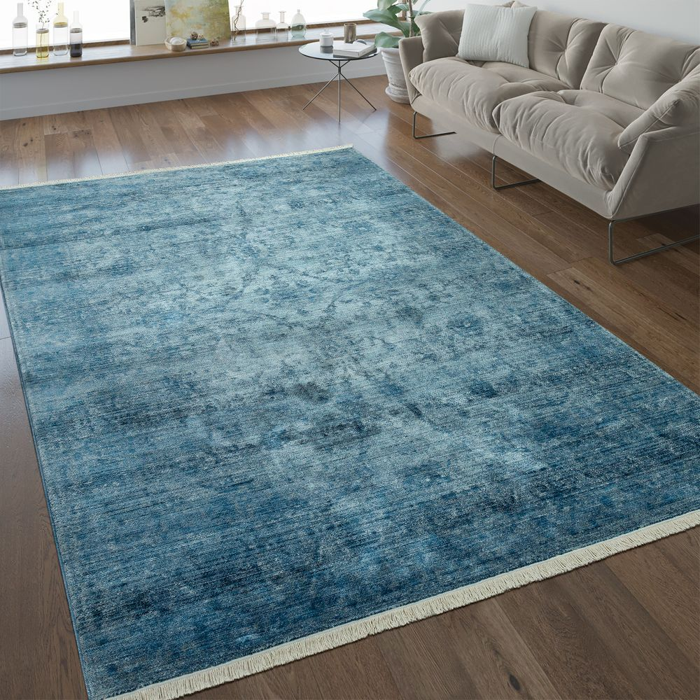 Vintage Teppich Ornamente Blau Teppiche Vintage Teppiche Teppich Turkis Blaue Teppiche