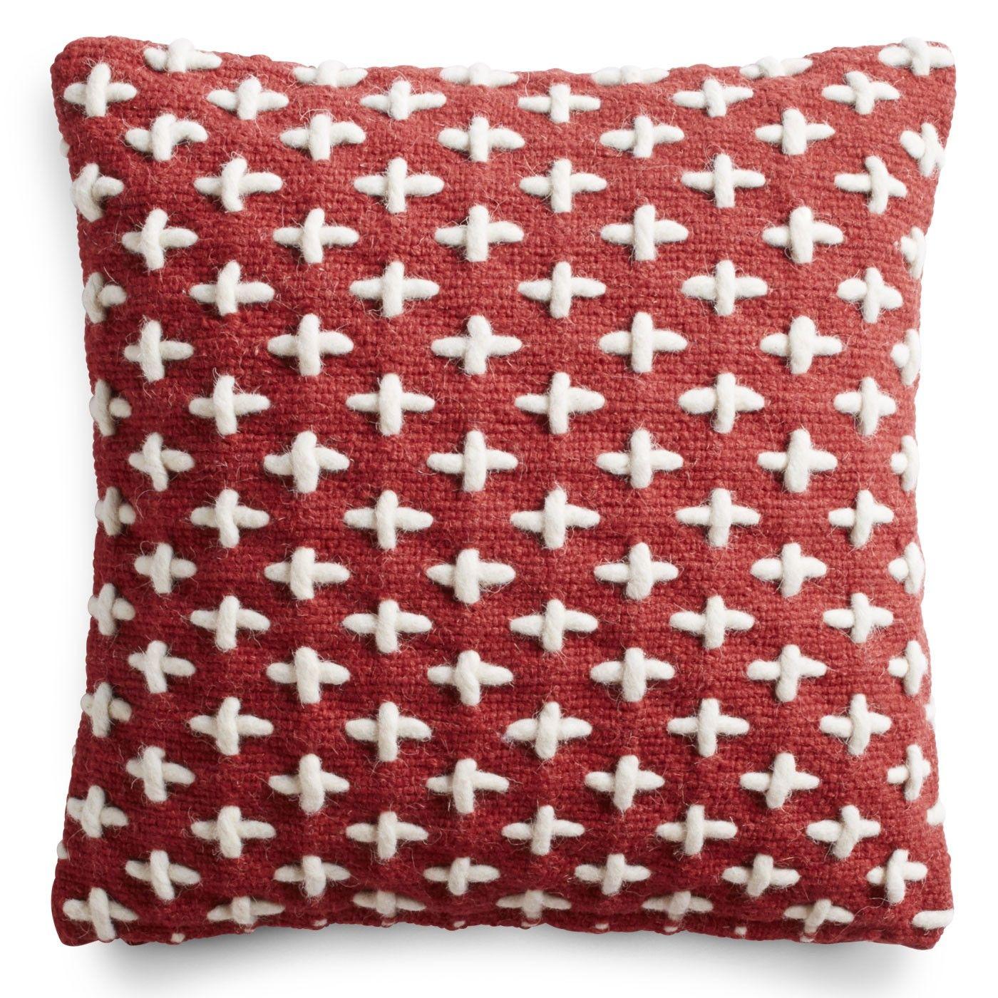Mima Wool Pillow - Red Throw Pillows | Blu Dot | Noe Valley House ...