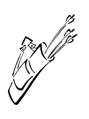 Quiver Outline Quiver With Arrows Coloring Page Super Coloring Coloring Pages Free Printable Coloring Printable Coloring Pages
