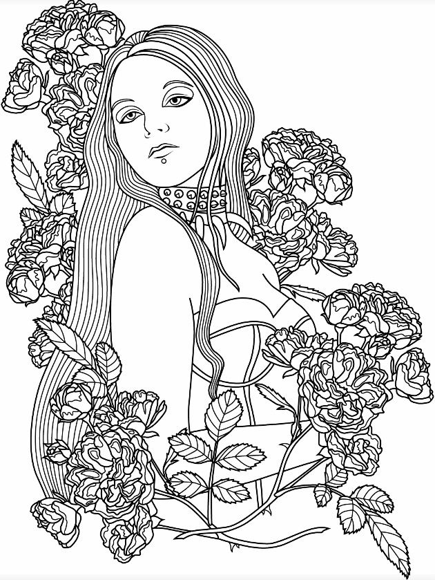 Coloring pages for adults app ~ Dark Gothic | Colorish: free coloring app for adults by ...