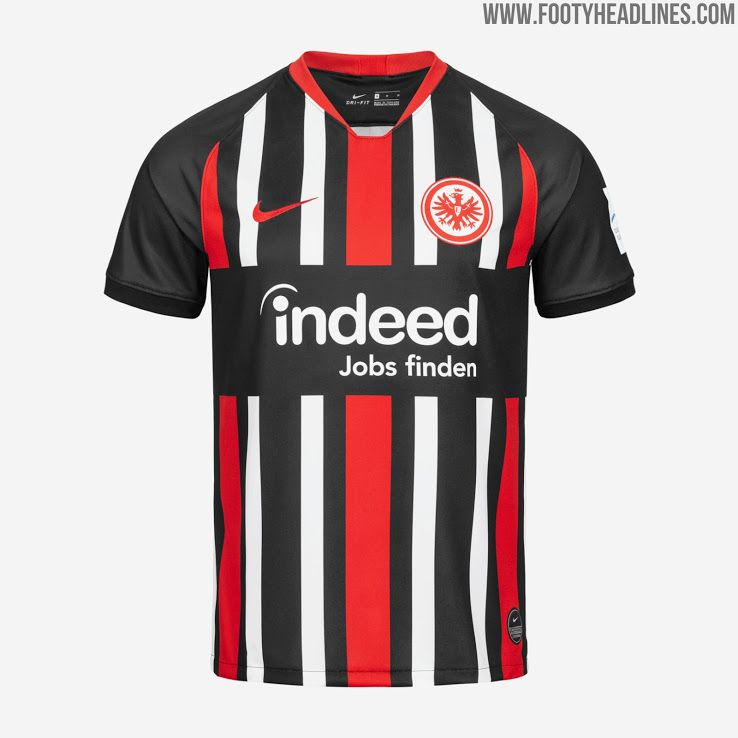 Eintracht Frankfurt 19 20 Home Away Kits Revealed Footy Headlines Soccer Kits Futbol Soccer Football Shirts