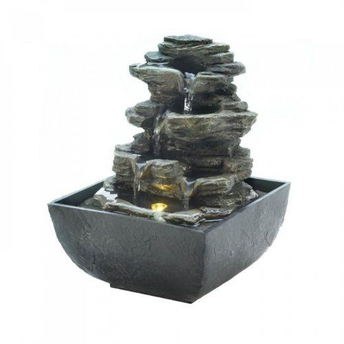 Tiered Rock Formation Tabletop Fountain By Cascading Fountains