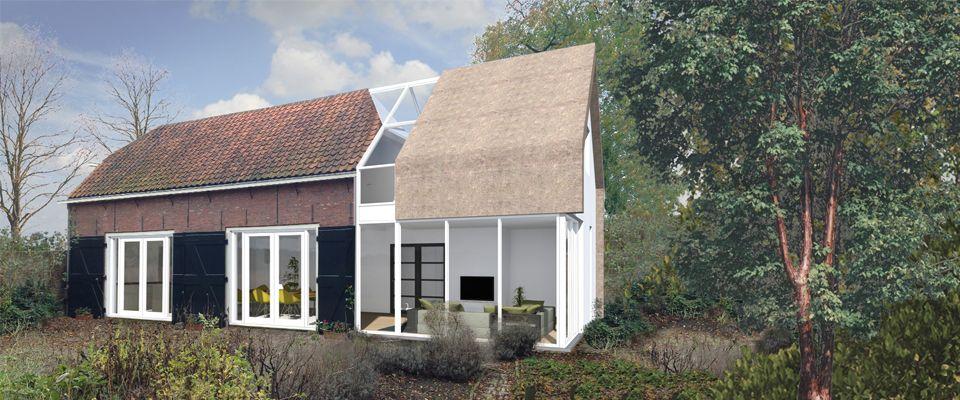 Afbeeldingsresultaat voor moderne uitbouw klassiek huis serre pinterest house extensions - Oud huis ...