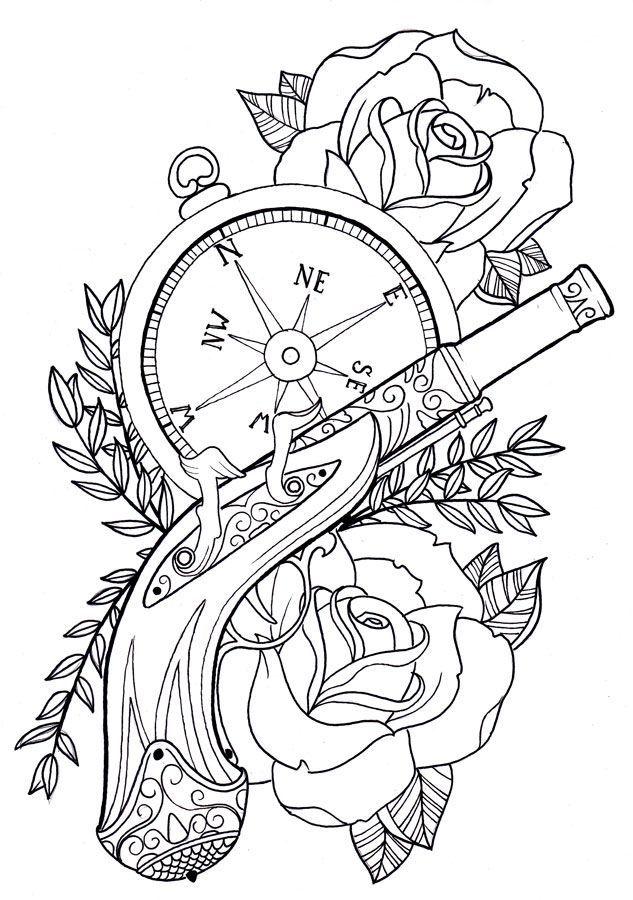 Tattoo stencil old school google search tattos for Tattoo school listings