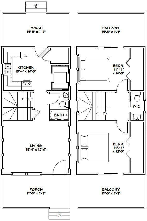 16x30 Tiny House 16x30h6g 873 Sq Ft Excellent Floor Plans Tiny House Floor Plans Small Tiny House Small House Plans