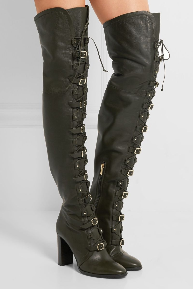 Jimmy Choo Maloy Leather Over-the-Knee Boots