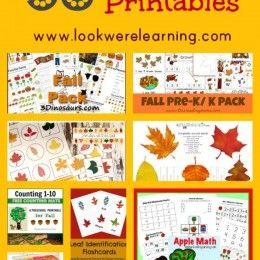 50 FREE Fall Printables #50freeprintables
