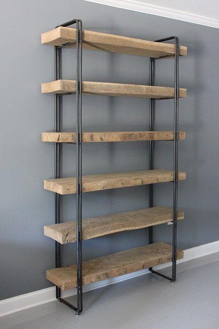 Scaffalature In Legno Per Libri.Reclaimed Wood Bookcase Shelving Unit Storage Di Dendroco Su Etsy