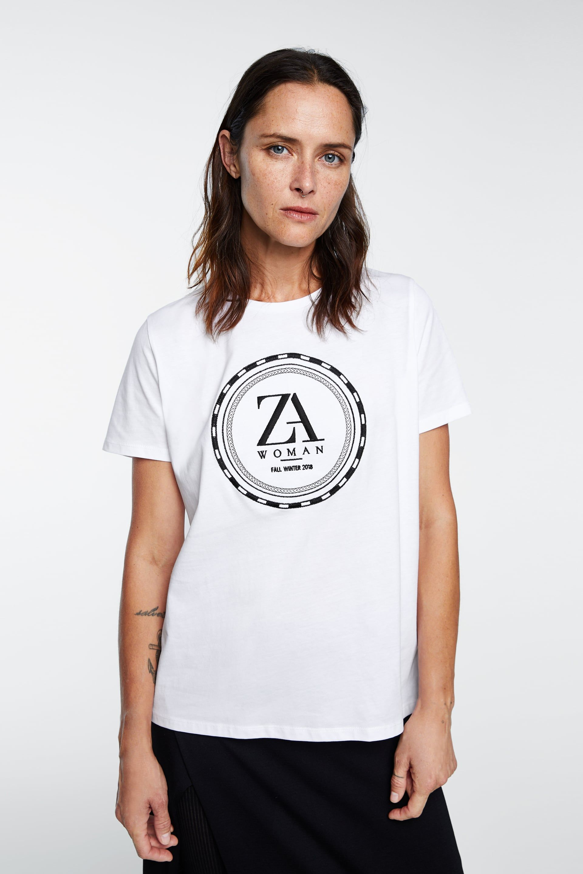 3e47387a69c1 ZARA LOGO T-SHIRT - Item available in more colors | Fashion | Zara ...