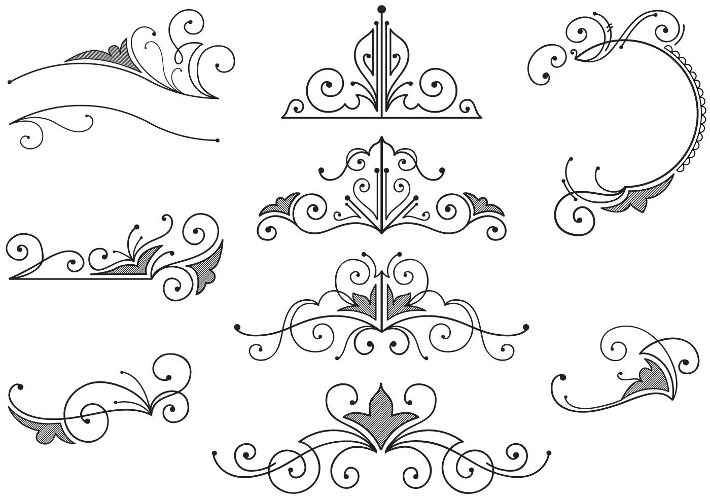 Vintage Flourish Vector (8910 Free Downloads) Vector