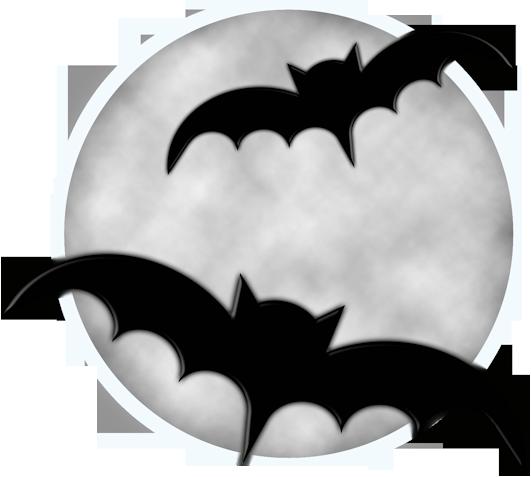 Halloween Moon with Bats PNG Clipart | Halloween moon ... (531 x 477 Pixel)