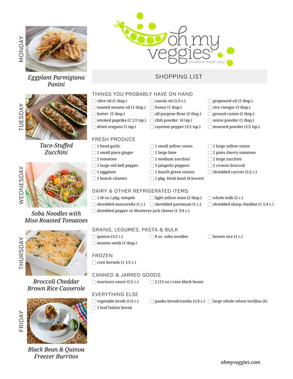 This WeekS Meatless Meal Plan  Taco Stuffed Zucchini Bean