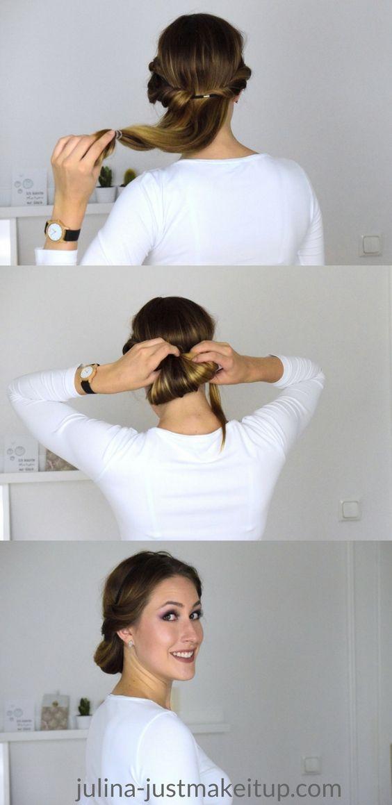 Dutt lange glatte haare
