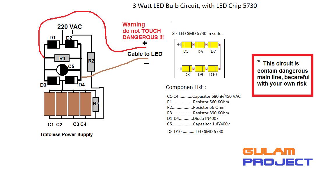 Cara Buat Lampu 3 Watt Led Bulb O Jual Lampu LED Harga Grosir Dan