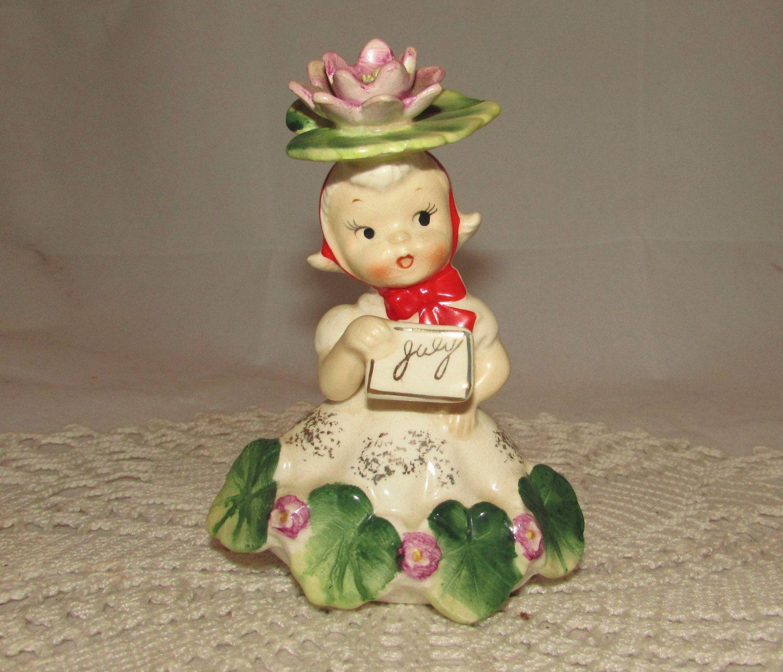 Vintage napco flower of the month birthday girl figurine july 1956 napco may flower of the month girl figurine by zantana izmirmasajfo Gallery