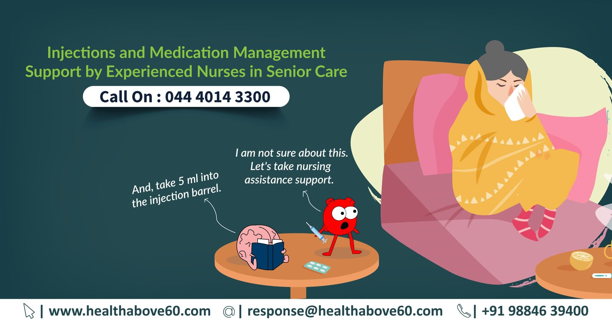 Avail superior support in injections and medication