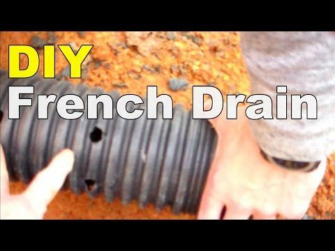 Diy french drain youtube garden pinterest french drain diy french drain youtube solutioingenieria Images