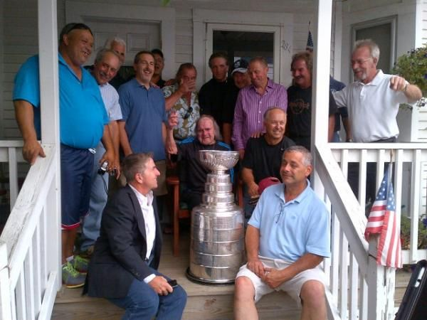 Godfather of Ludlow hockey Tony, 91 gets Cup from Lombardi.