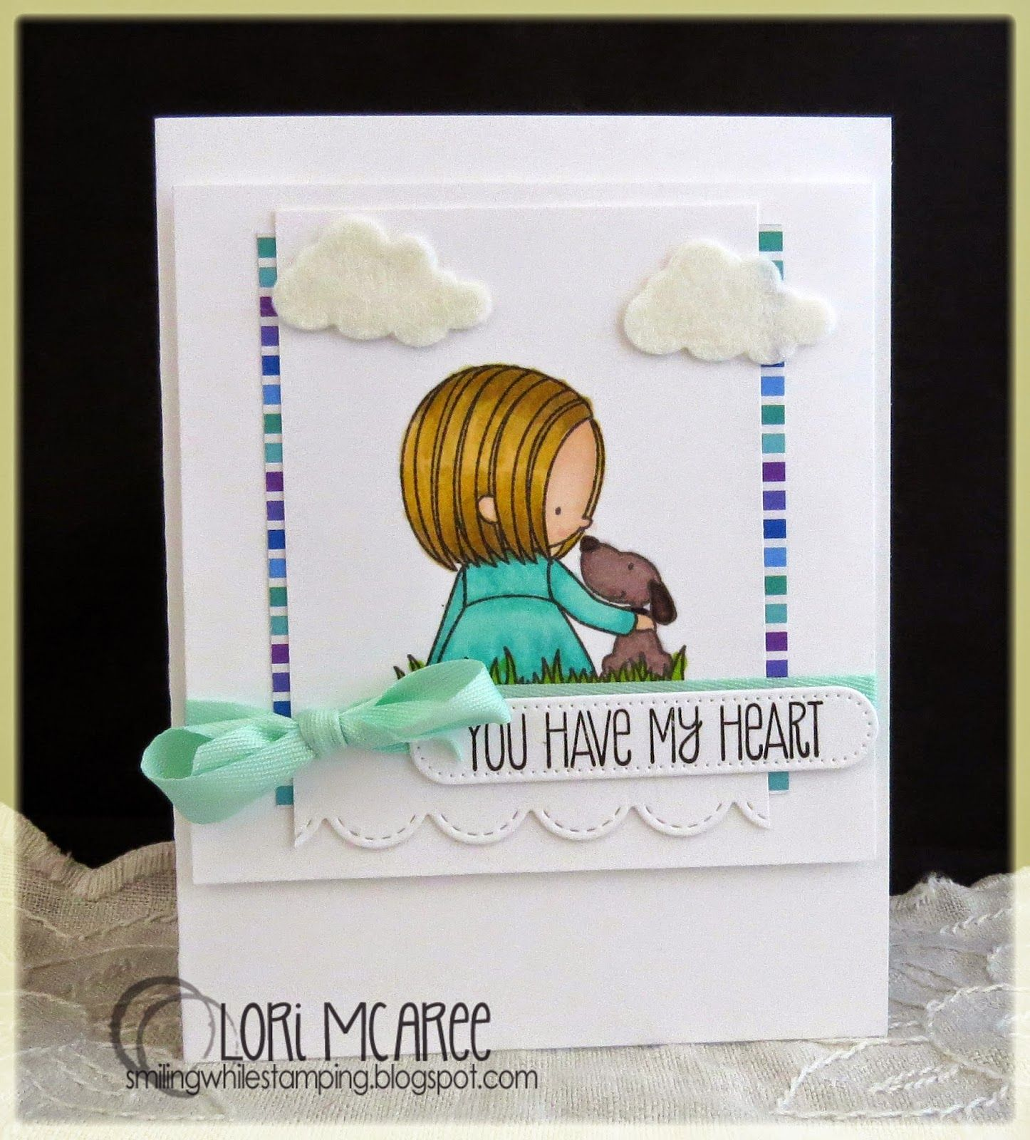 Smiling while Stamping: You Have My Heart handmade love/anniversary card using My Favorite Things You Have My Heart stamp set