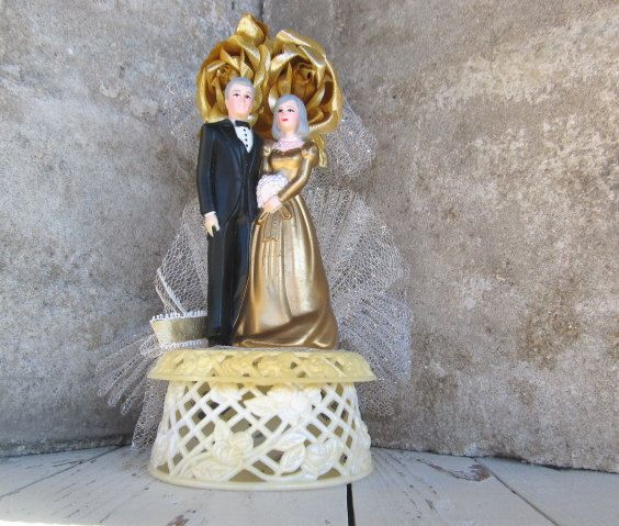 50th anniversary wedding cake topper vintage 50th wedding anniversary cake topper by 10435