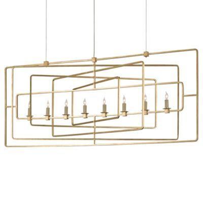 Metro Rectangular Chandelier By Currey And Company At Lumens More