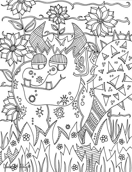 troll doodle | Coloring pages | Pinterest