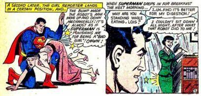 Superman says papa spank