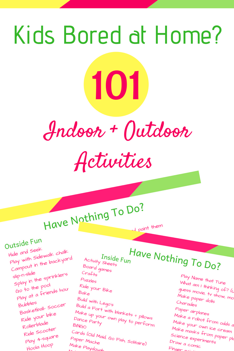101 Things to Do When Youre Bored   Bored kids, Things to