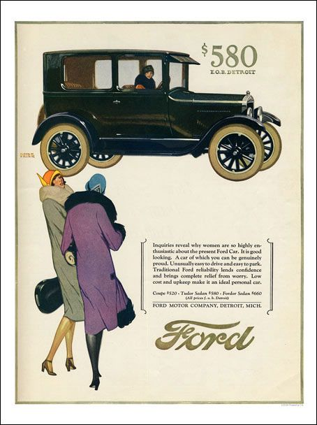 Ap2185 Ford Art Deco Car Advert 30x40cm Art Print Art Deco