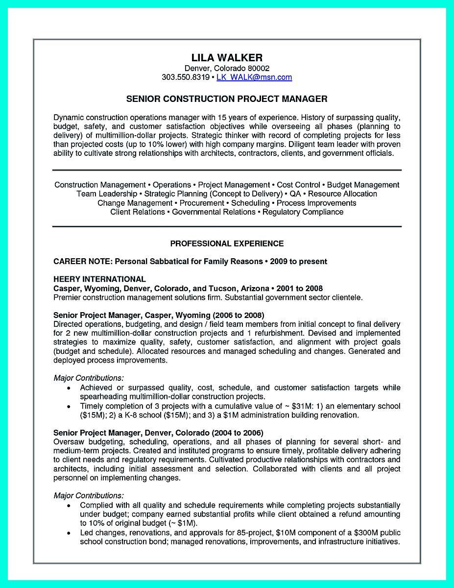 awesome Simple Construction Superintendent Resume Example to Get ...