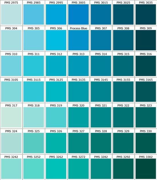 Love These Blues I Can Feel A Project Coming On For My Bathroom Pantone Color Chart Pantone Color Color Chart