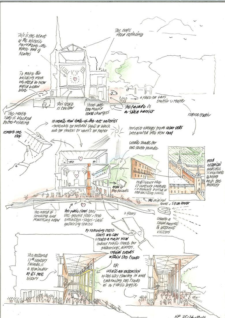 Museo del Prado Competition - Refurbishment of the Salón de Reinos, Madrid, 2016 - Foster + Partners, Rubio Arquitectura