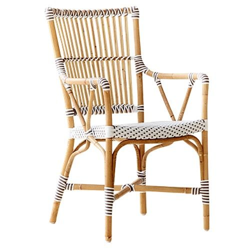 The Monique Rattan Bistro Armchair Is Made Of Natural Rattan, Designed To  Withstand Outdoor Use. It Is A Wonderful Restaurant Or Cafe Bistro Chair  Suitable ...