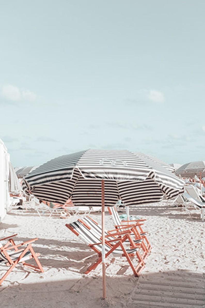 Coastal Wall Art Miami Beach Photography Print In 2020 Beach