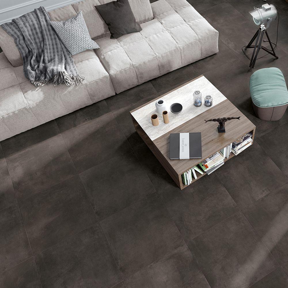 Carrelage Rectifié Ou Pas carrelage sol effet béton 60x60 grey naturel rectifié