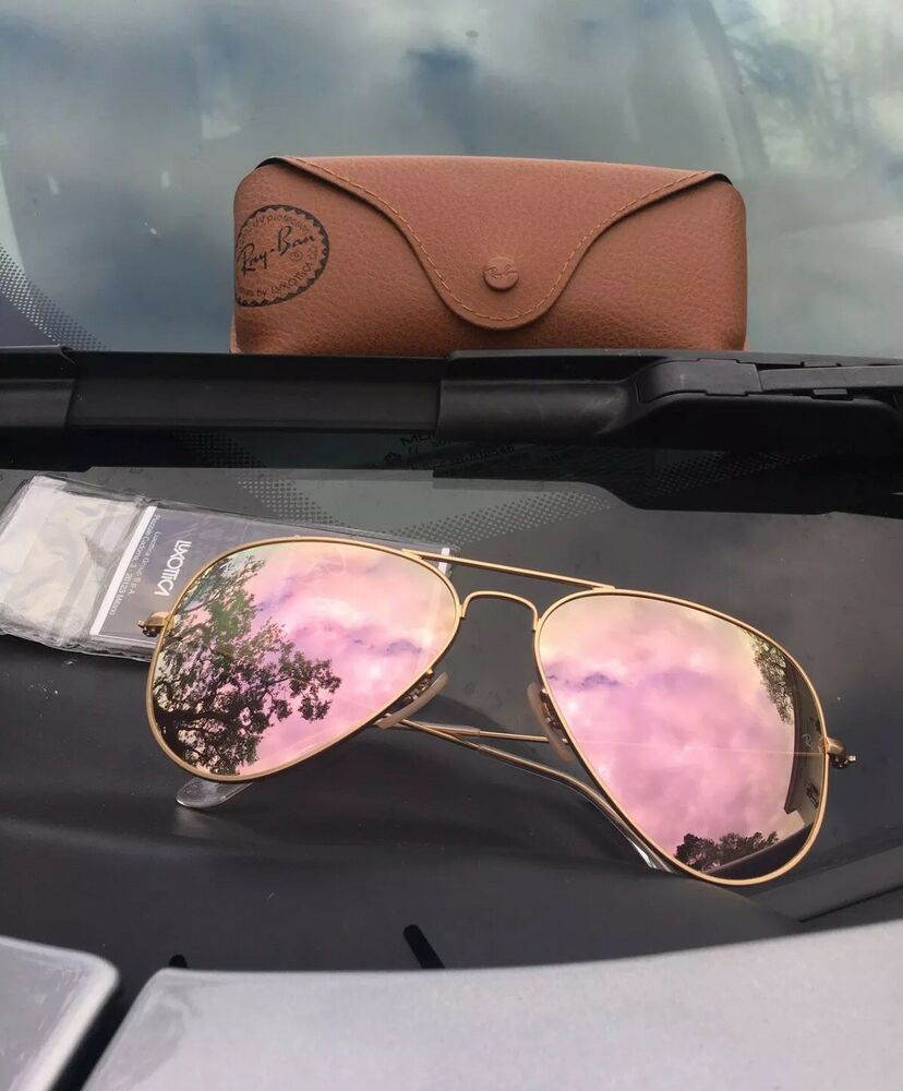 c6dc929a71 Ray-Ban RB3025 112/Z2 Aviator Sunglasses Gold / Copper Flash 58mm PINK  Mirror #RayBan #112Z2