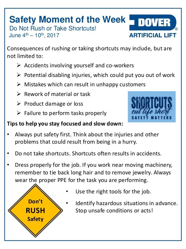 Do Not Rush Or Take Shortcuts Alberta Oil Tool S Safety