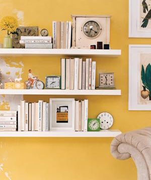 I love using clocks to create ambiance. And they work great for book holders and shelve decor.
