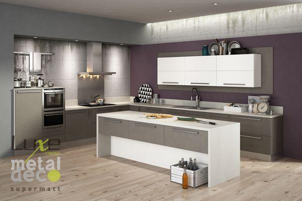 Cocina #Luxe MetalDeco. Acabado antihuella para proyectos de ...