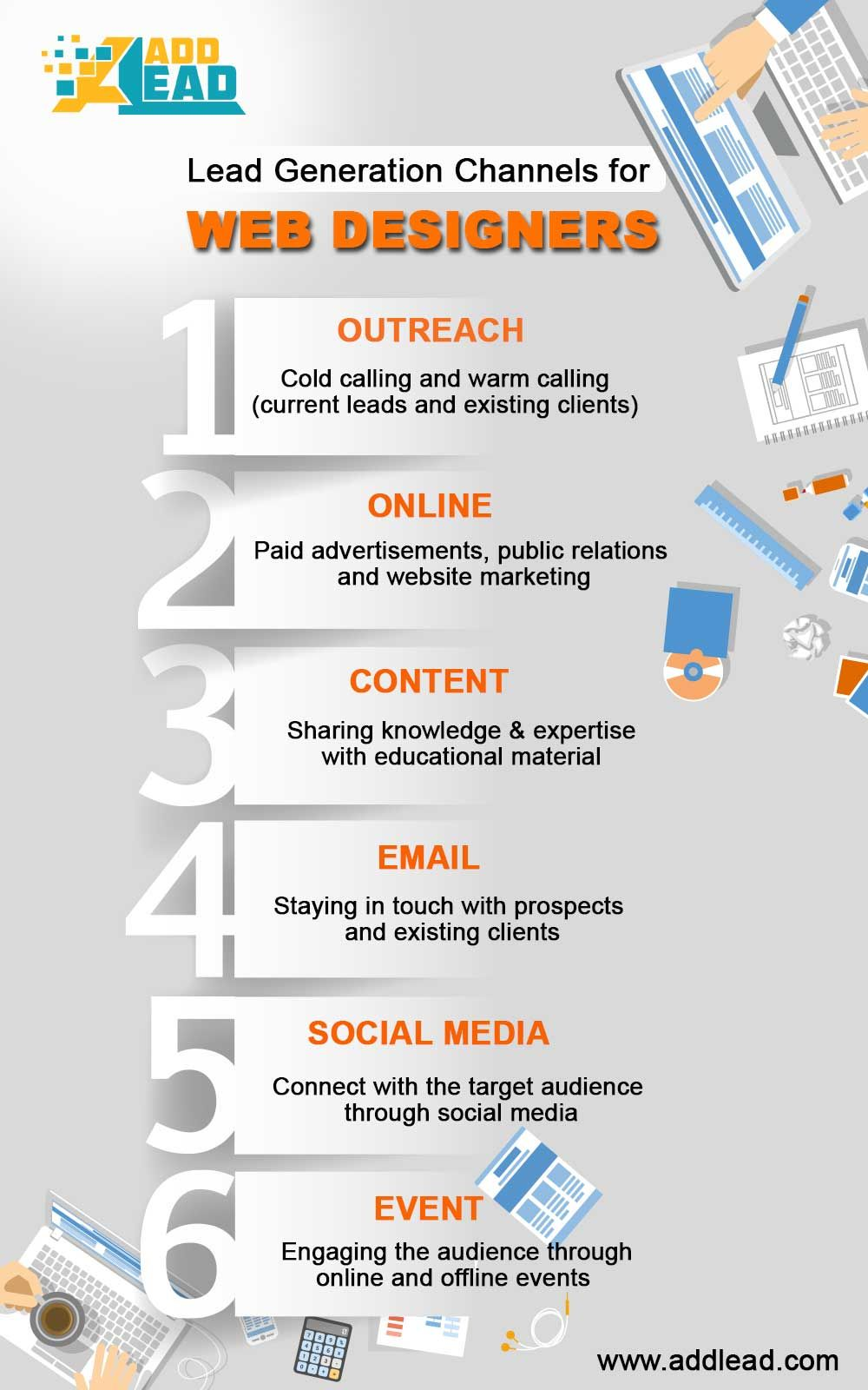 Lead Generation Channels For Web Designers outreach