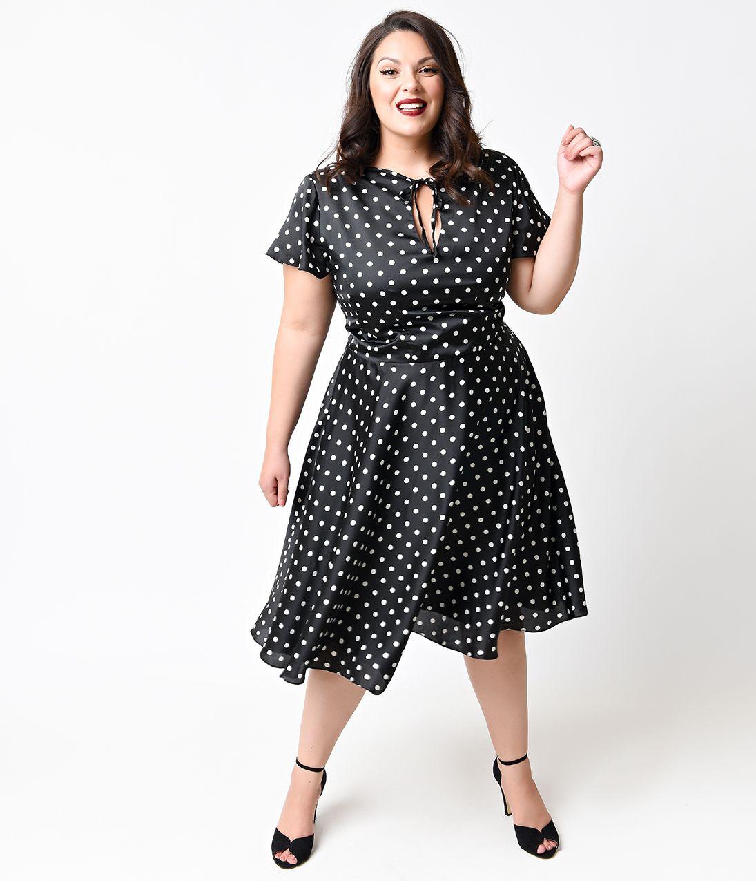 Vintage Style 1940s Plus Size Dresses in 2019 | Plus size ...