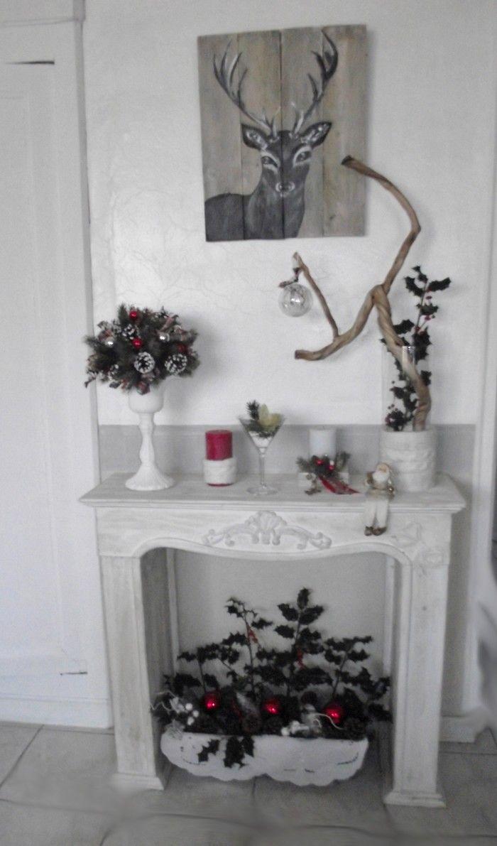 d cor de chemin e pour no l id es pour no l pinterest noel decoration noel et idee noel. Black Bedroom Furniture Sets. Home Design Ideas