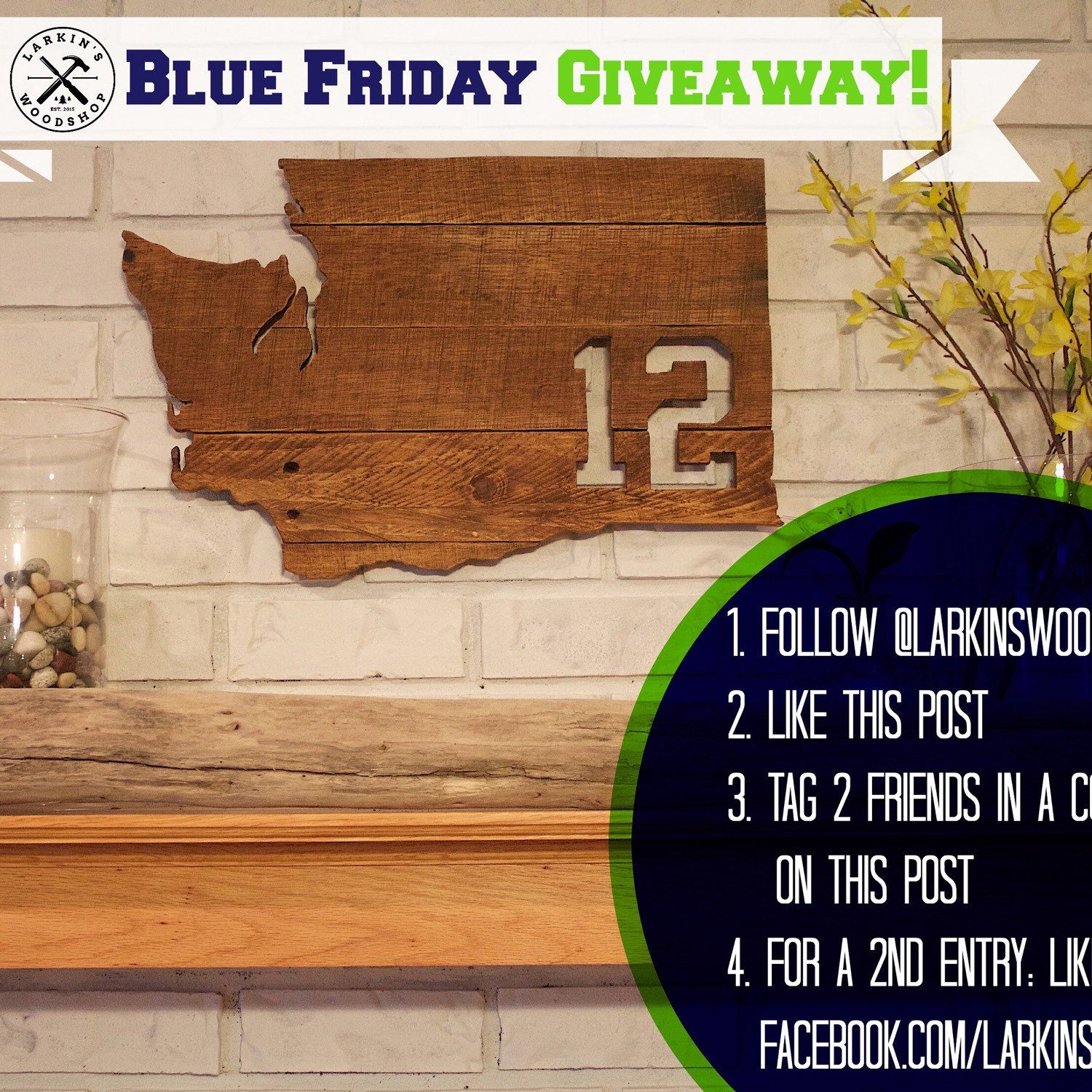 We're having a giveaway on Instagram! Check it out to win our 12th Man sign!