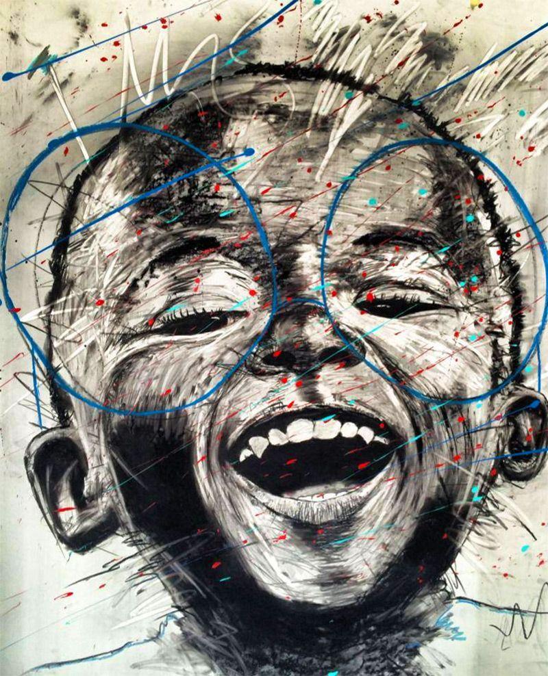 Artist nelson makamos dynamic portraits of johannesburg