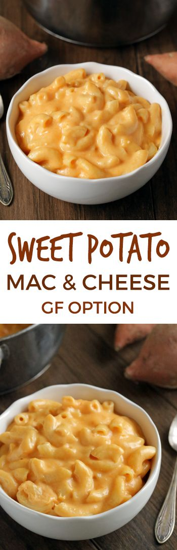 Sweet Potato Macaroni and Cheese {with gluten-free and whole grain options}