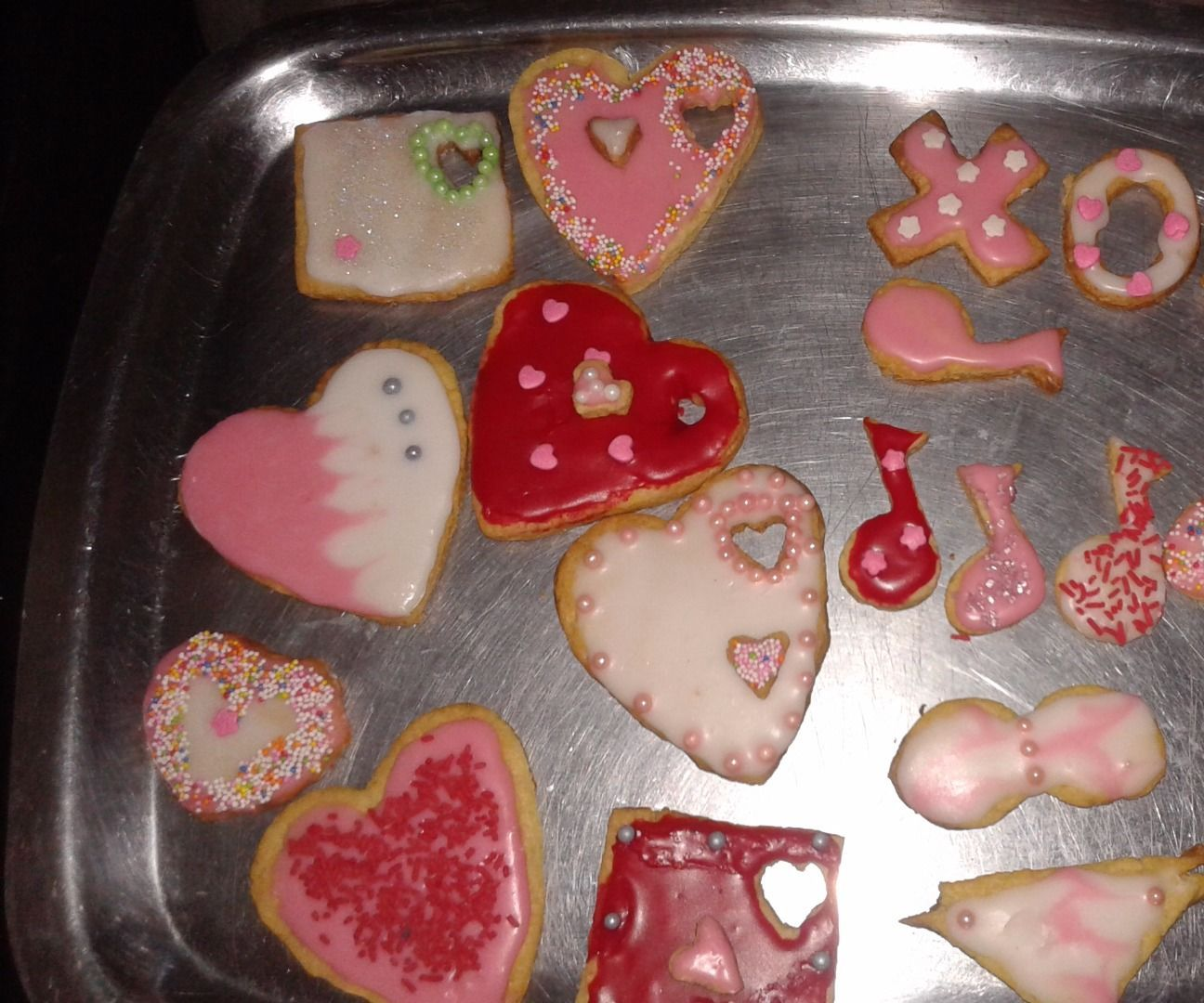Home baked and glazed cookies