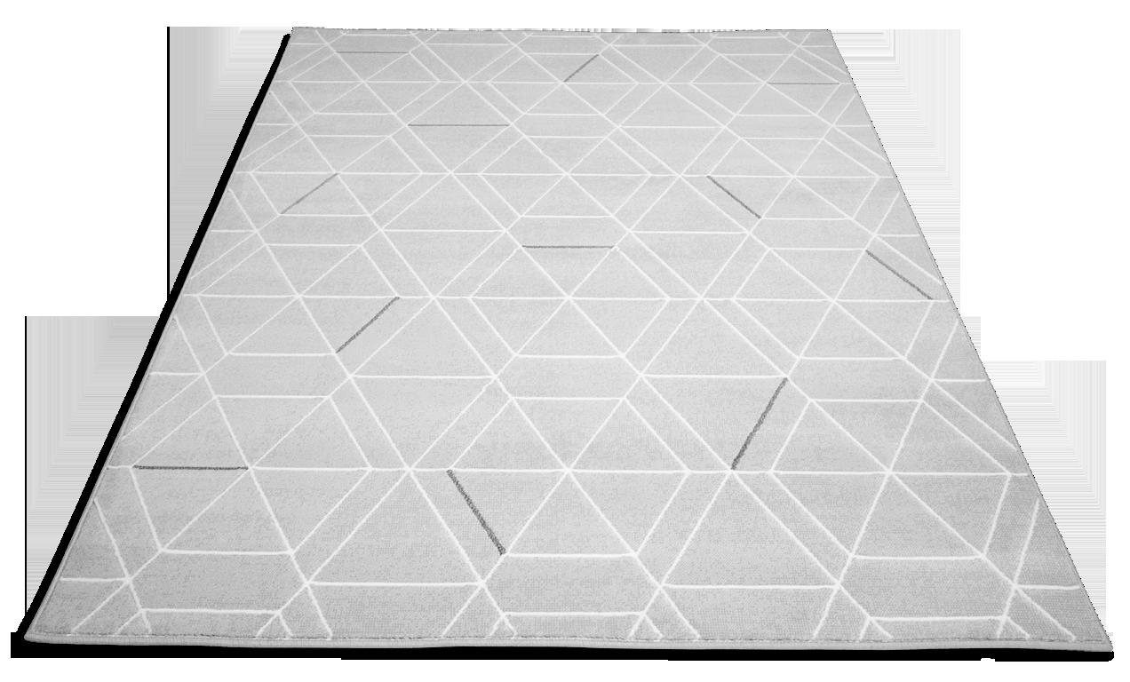 DIAMOND-matto 135 X 200 cm, VALKOINEN HARMAA