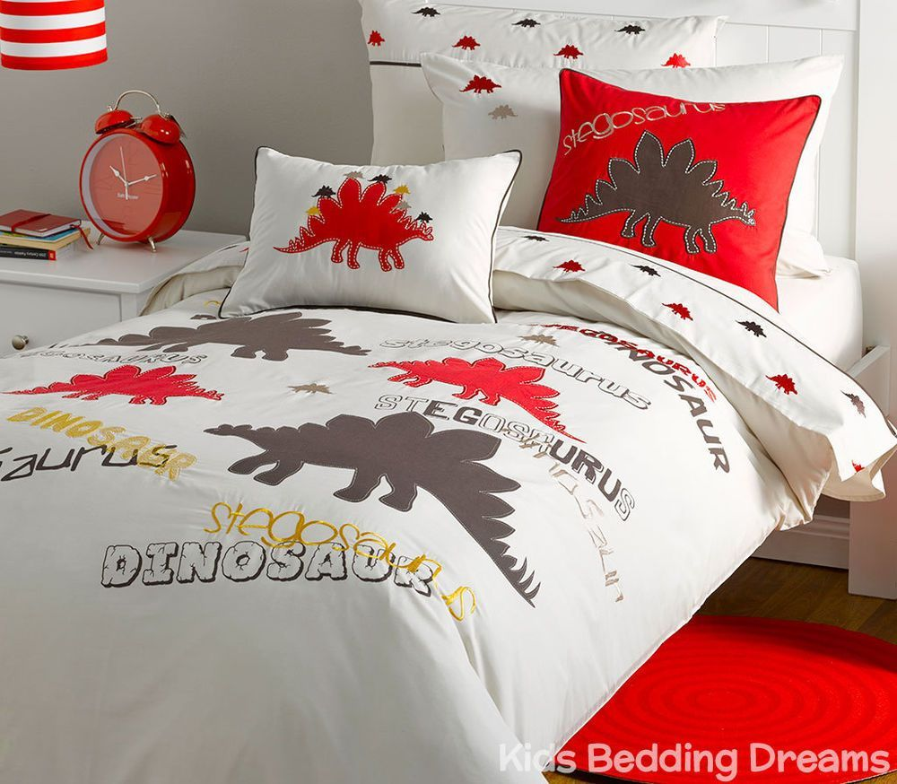 Boys Double Quilt Cover Stegosaurus Dinosaur Quilt Cover Set Doona Duvet Boys Bedding